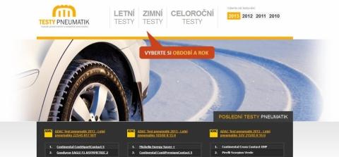 AdacTest.cz - testy letních a zimních penumatik přehledně