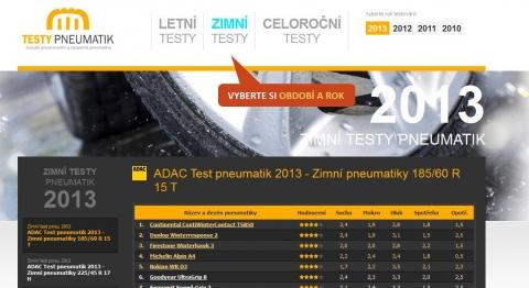 ADAC Test pneumatik 2013 - Zimní pneumatiky 225/45 R 17 H